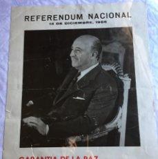 Militaria: CARTEL REFERÉNDUM NACIONAL 1966. Lote 135537590