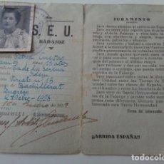 Militaria: VILLANUEVA DE LA SERENA. BADAJOZ. 1938.GUERRA CIVIL, CARNET SEU.. Lote 135773466
