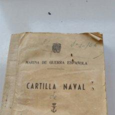 Militaria: CARTILLA NAVAL 1965 MARINA DE GUERRA ESPAÑOLA. Lote 135794910