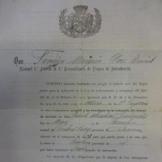 Militaria - Concesión de LICENCIA ILIMITADA Soldado 4ª Comandancia Tropas Intendencia. Barcelona 1924 - 135804150