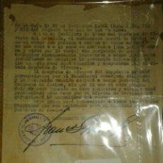Militaria: ORDEN BATALLON DE TRANSMISIONES, SEVILLA 1943. Lote 136286746