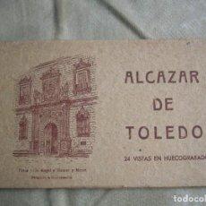 Militaria: ALCAZAR DE TOLEDO. 24 VISTAS EN HUECOGRABADO. FOTOS DE JALON ANGEL Y HAUSER Y MENET. EXCEPCIONAL.. Lote 136375178