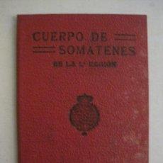 Militaria: CARNET CUERPO DE SOMATENES DE LA 1ª REGION - CARTERA DE IDENTIDAD - AÑO 1926 - VER FOTOS (V-15.080). Lote 136635778