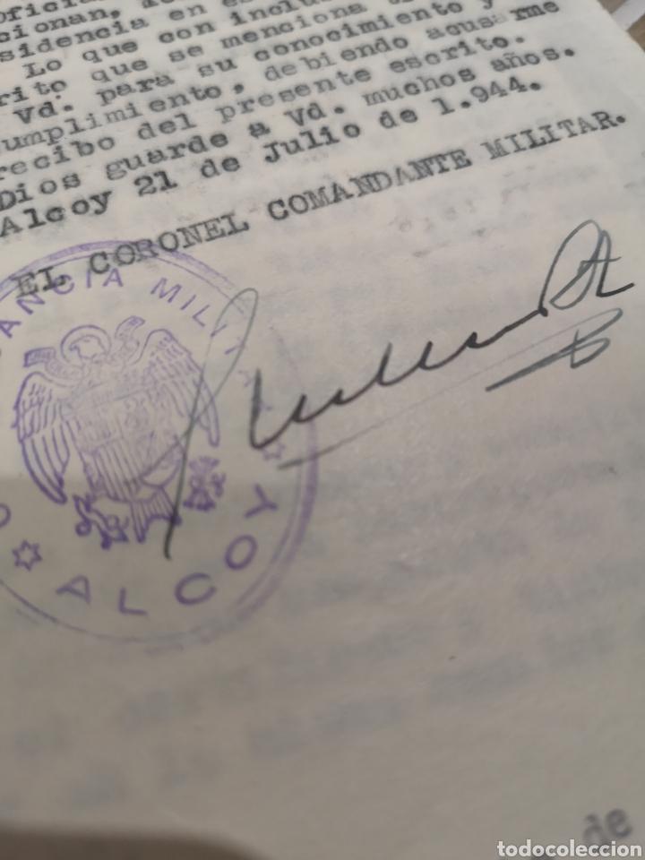Militaria: lote de 12 documentos, comandancia miltar de Alcoy, años 40-50, telegramas, gobierno militar - Foto 2 - 137148540