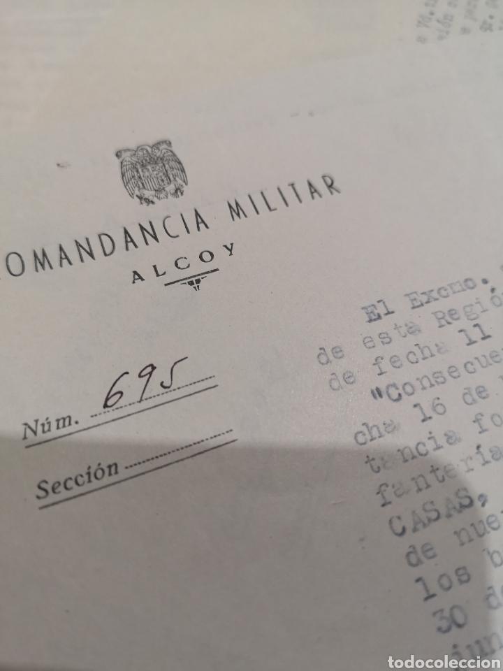 Militaria: lote de 12 documentos, comandancia miltar de Alcoy, años 40-50, telegramas, gobierno militar - Foto 3 - 137148540