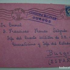 Militaria: SOBRE A FRANCISCO FRANCO SALGADO ARAUZO SECRETARIO FRANCO BURGOS. Lote 137243130