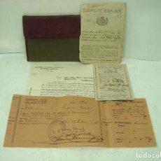 Militaria: CARTILLA MILITAR 1927 -AUTORIZACION PASAJE-MOVILIZACION-EJERCITO ESPAÑOL-TARJETA INSCRIPCION CARTERA. Lote 137303706