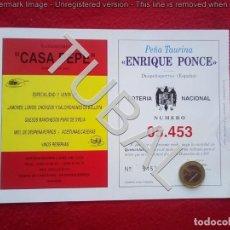 Militaria: TUBAL LOTERIA CASA PEPE 1997 90 GRS . Lote 137994874