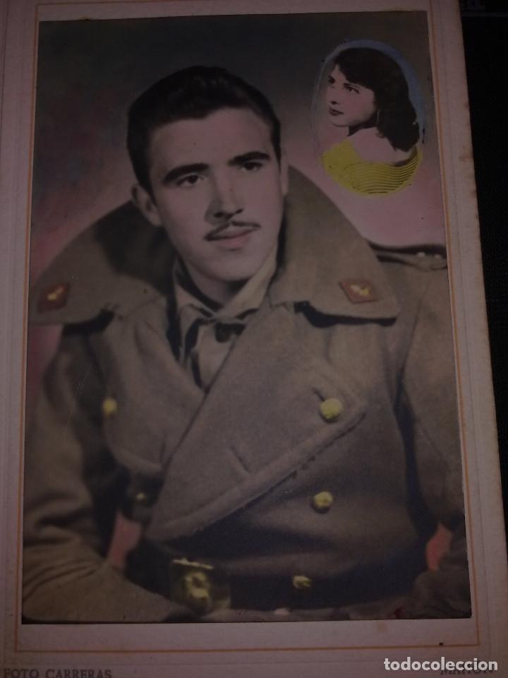 FOTO DEDICADA DE SOLDADO DE ARTILLERIA (Militar - Propaganda y Documentos)