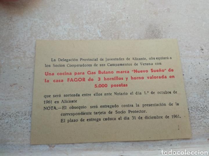 Militaria: Título de Cooperador de los Campamentos del Frente Juventudes - Alicante año 1961 - Foto 2 - 138062672