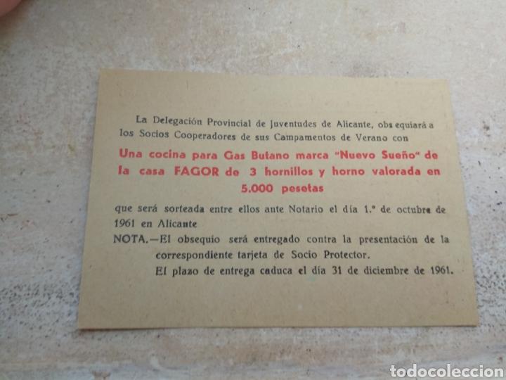 Militaria: Título de Cooperador de los Campamentos del Frente Juventudes - Alicante año 1961 - Foto 2 - 138063034