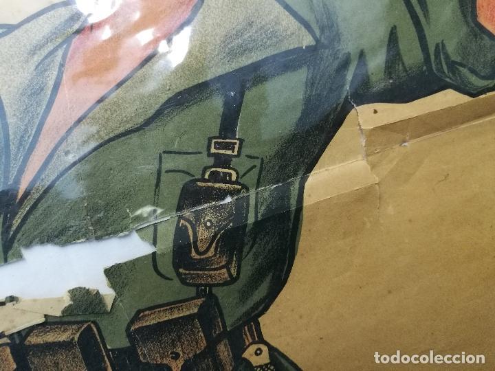Militaria: cartel de La Legion Guerra Civil--ORIGINAL !!!! impresor martin i.g.ancora ..madrid - Foto 2 - 139454910