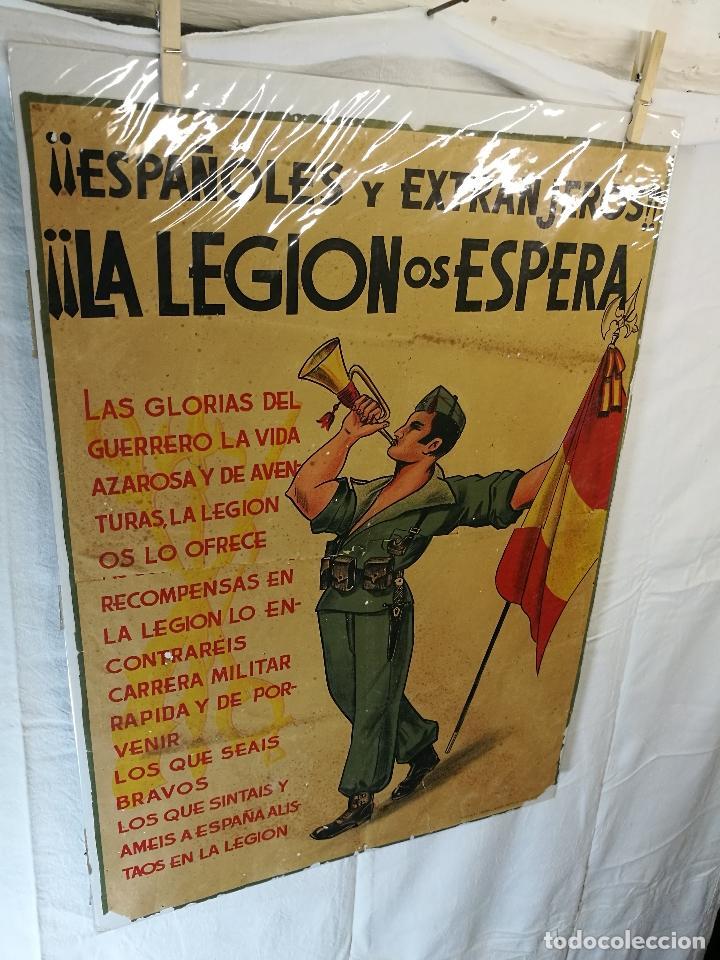 Militaria: cartel de La Legion Guerra Civil--ORIGINAL !!!! impresor martin i.g.ancora ..madrid - Foto 7 - 139454910