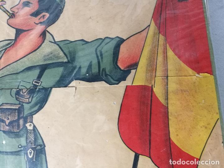Militaria: cartel de La Legion Guerra Civil--ORIGINAL !!!! impresor martin i.g.ancora ..madrid - Foto 11 - 139454910