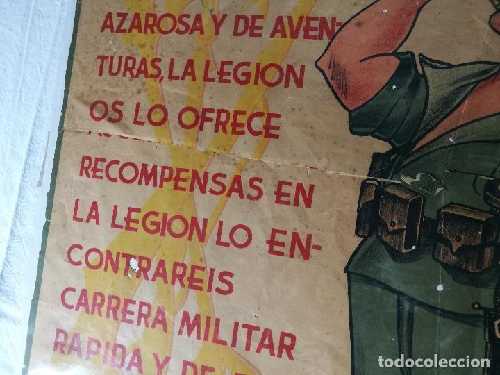Militaria: cartel de La Legion Guerra Civil--ORIGINAL !!!! impresor martin i.g.ancora ..madrid - Foto 12 - 139454910