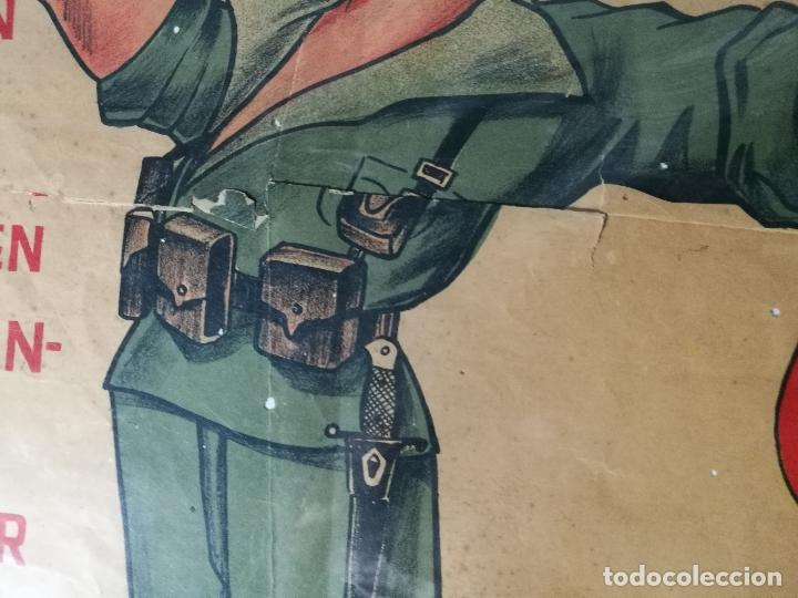 Militaria: cartel de La Legion Guerra Civil--ORIGINAL !!!! impresor martin i.g.ancora ..madrid - Foto 13 - 139454910
