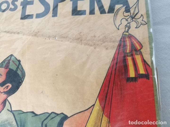 Militaria: cartel de La Legion Guerra Civil--ORIGINAL !!!! impresor martin i.g.ancora ..madrid - Foto 14 - 139454910