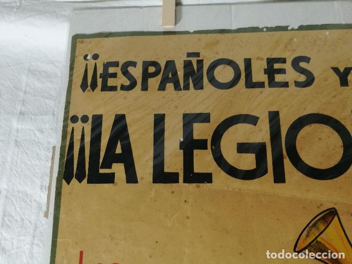 Militaria: cartel de La Legion Guerra Civil--ORIGINAL !!!! impresor martin i.g.ancora ..madrid - Foto 17 - 139454910