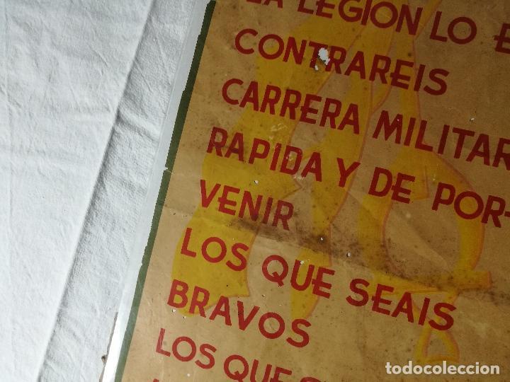 Militaria: cartel de La Legion Guerra Civil--ORIGINAL !!!! impresor martin i.g.ancora ..madrid - Foto 19 - 139454910