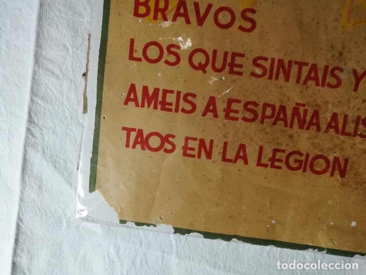 Militaria: cartel de La Legion Guerra Civil--ORIGINAL !!!! impresor martin i.g.ancora ..madrid - Foto 20 - 139454910