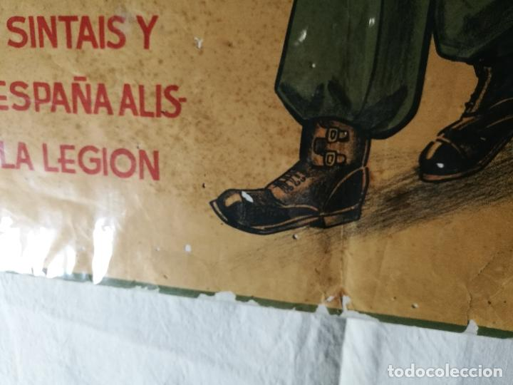 Militaria: cartel de La Legion Guerra Civil--ORIGINAL !!!! impresor martin i.g.ancora ..madrid - Foto 22 - 139454910