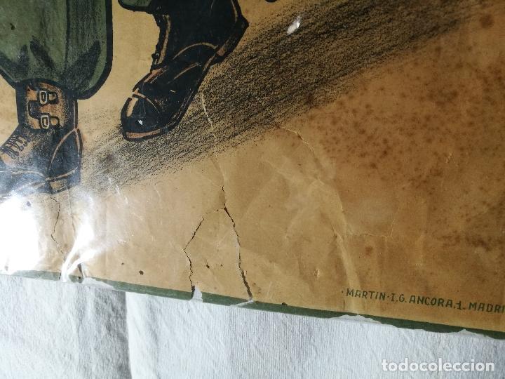 Militaria: cartel de La Legion Guerra Civil--ORIGINAL !!!! impresor martin i.g.ancora ..madrid - Foto 23 - 139454910