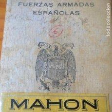 Militaria: CARTILLA DEL SERVICIO MILITAR MAHON AÑOS 70- FUERZAS ARMADAS ESPAÑOLAS -. Lote 139995294