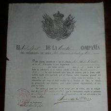 Militaria: NOMBRAMIENTO DEL REGIMIENTO DE LINEA JOLO N.73, FILIPINAS, ASCENDO DE SOLDADO A CABO EN MANILA EN 18. Lote 140566458