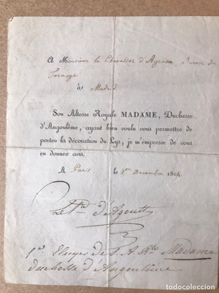 ESCRITO FRANCES GUERRA INDEPENDENCIA MADRID 1814 (Militar - Propaganda y Documentos)