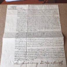 Militaria: DOCUMENTO FIRMADO MINISTRO GRACIA JUSTICIA 1827. Lote 140638478
