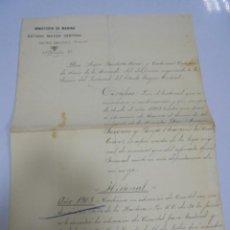 Militaria: HOJA DE SERVICIO. DEL ALMIRANTE DON JUAN JACOME Y PAREJA. MARQUES DEL REAL TESORO. 1915. SELLOS. Lote 140837006