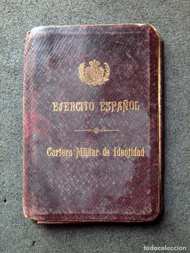 (JX-181162)CARTERA MILITAR DE IDENTIDAD , EJERCITO ESPAÑOL , INTERVENTOR DE DISTRITO , AÑO 1918 (Militar - Propaganda y Documentos)