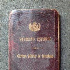 Militaria: (JX-181162)CARTERA MILITAR DE IDENTIDAD , EJERCITO ESPAÑOL , INTERVENTOR DE DISTRITO , AÑO 1918. Lote 140875250