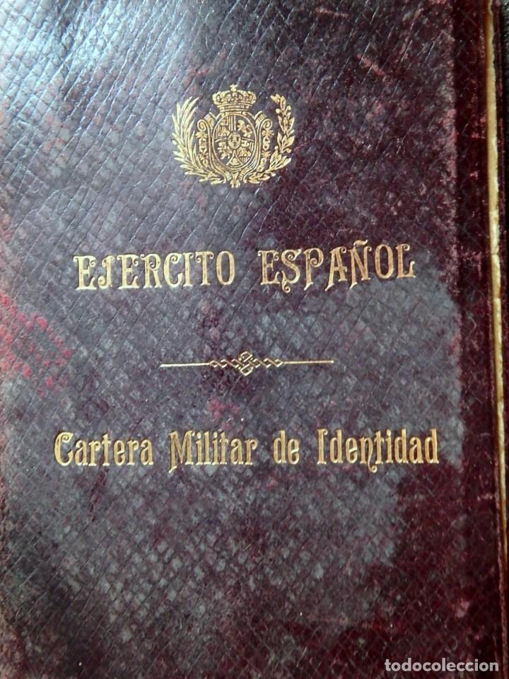 Militaria: (JX-181162)Cartera Militar de Identidad , Ejercito Español , Interventor de Distrito , Año 1918 - Foto 2 - 140875250