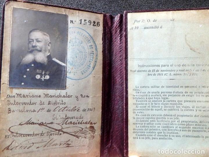 Militaria: (JX-181162)Cartera Militar de Identidad , Ejercito Español , Interventor de Distrito , Año 1918 - Foto 3 - 140875250