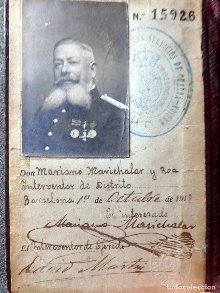 Militaria: (JX-181162)Cartera Militar de Identidad , Ejercito Español , Interventor de Distrito , Año 1918 - Foto 4 - 140875250