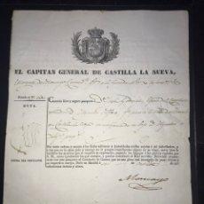 Militaria: PASAPORTE MILITAR 1835. Lote 141321240