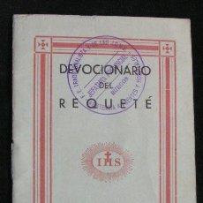 Militaria: MILITAR - DEVOCIONARIO DEL REQUETÉ 1936 - SELLO F.E. TRADICIONALISTA Y DE LAS J.O.N.S. BURGOS. Lote 141465214