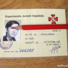 Militaria: CARNET DE LA ORGANIZACIÓN JUVENIL ESPAÑOLA DE 1972 - OJE -FALANGE. Lote 141773594