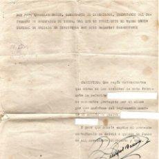 Militaria: GUERRA CIVIL ESPAÑOLA,CERTIFICADO LEGIONARIO MUERTO EN COMBATE PARA HUERFANA,AÑO 1953,LEGION ESPAÑA. Lote 141974522