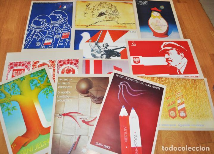 Militaria: Juego de 22 carteles sovietico -polacos .Amistad entre Polonia i URSS.made in Polonia - Foto 3 - 142423766