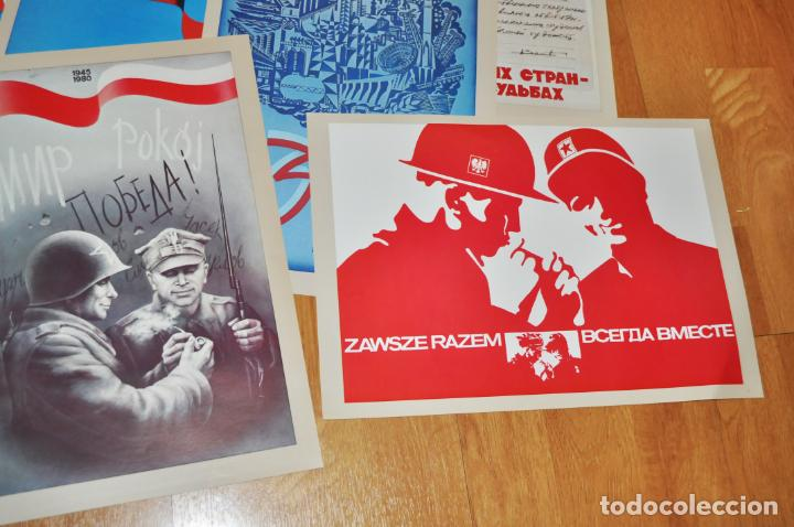 Militaria: Juego de 22 carteles sovietico -polacos .Amistad entre Polonia i URSS.made in Polonia - Foto 4 - 142423766