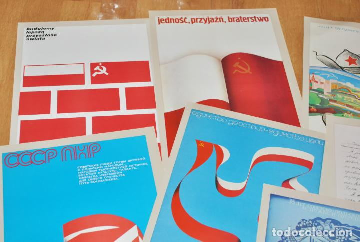 Militaria: Juego de 22 carteles sovietico -polacos .Amistad entre Polonia i URSS.made in Polonia - Foto 6 - 142423766