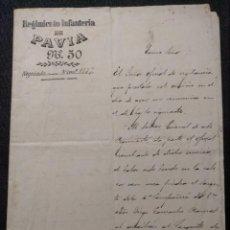 Militaria: REGIMIENTO INFANTERÍA DE PAVÍA N. 50. PELEA EN PLAZA DE TOROS CON UN MARINERO BORRACHO. CÁDIZ 1892.. Lote 143086954