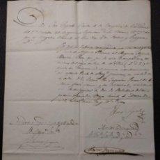 Militaria: NOMBRAMIENTO COMPAÑÍA DE CAZADORES 2º BATALLÓN INFANTERÍA 1847 ÉCIJA. PREFILATELIA FERNÁNDEZ CÓRDOVA. Lote 143087330