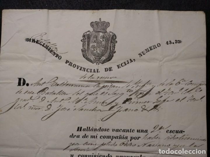 1283. REGIMIENTO (BATALLÓN) PROVINCIAL DE ÉCIJA NÚMERO 13. 1842. (Militar - Propaganda y Documentos)