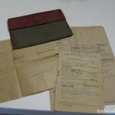 Militaria: HOJA DE MOVILIZACION 1944,CON CARTERA DEL EJERCITO ESPAÑOL Y HOJA DE PERMISO ILIMITADO EN MALLORCA.. Lote 143255582