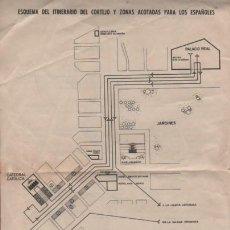 Militaria: ESQUEMA AVISO D ITINERARIO DEL CORTEJO BODA D S.A.R PRINCIPE ASTURIAS CON L PRINCESA SOFIA DE GRECIA. Lote 143413694