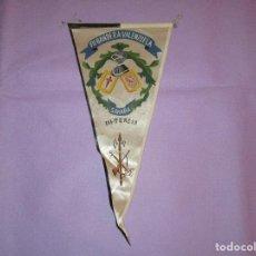 Militaria: BANDERIN VII BANDERA-VALENZUELA ( III TERCIO - SAHARA ) - 18 CM ANCHO X 37 CM ALTO APROX. - IRUPE. Lote 143730622
