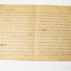 Militaria: DOCUMENTO ESCRITO DE COSTUMBRES MORUNAS - BODA MORUNA - SALIDA DEL JALIFA DE SU PALACIO - RABADAN. Lote 144111606